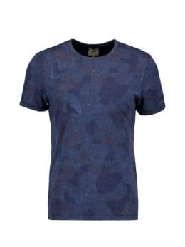 garcia t-shirt met allover print donkerblauw pg010313