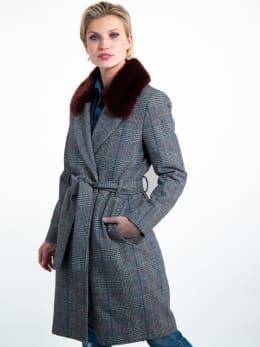 garcia geruite mantel jas gj901002 grijs