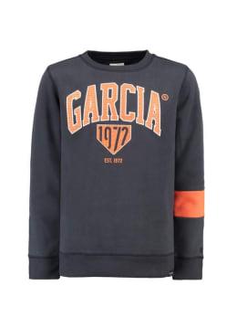 garcia sweater met logo g93460 donkerblauw