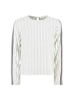 garcia blouse i92434 gestreept blauw wit