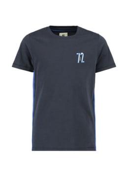 garcia t-shirt met zijstrepen g93400 donkerblauw