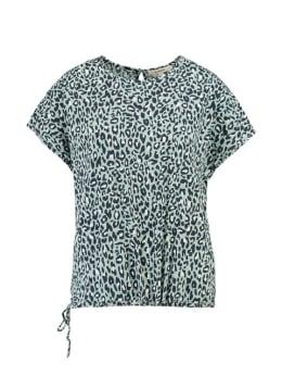 garcia t-shirt met print PG900400 grijs