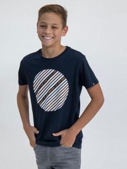 garcia t-shirt met opdruk m03403 blauw