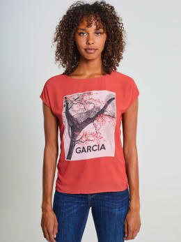 garcia top met opdruk pg900903 rood