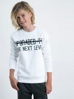 garcia sweater met tekst j93660 wit