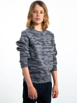 garcia sweater met allover print i93461 grijs