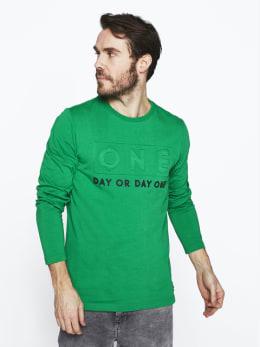chief sweater met opdruk pc0120205 groen