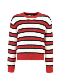 garcia trui met strepen j92642 rood wit