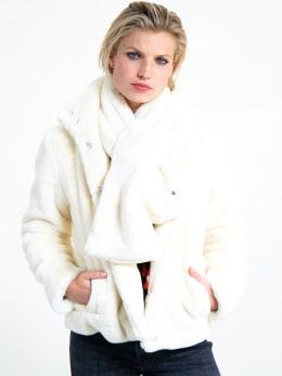 garcia fake fur sjaal i90131 wit