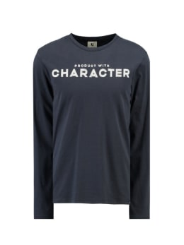 garcia shirt met lange mouwen I91014 blauw