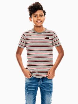 garcia t-shirt grijs gestreept s03402