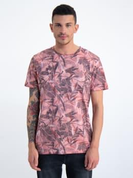 garcia t-shirt met allover print n01205 roze