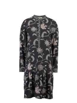 garcia jurk met print i90083 zwart