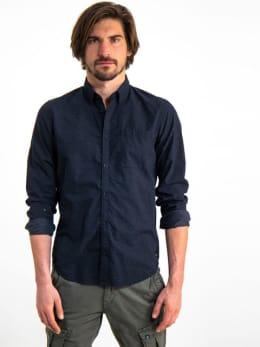 garcia overhemd met stipjes h91227 zwart