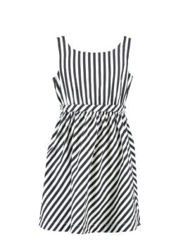 Garcia jurk mouwloos D92687 gestreept