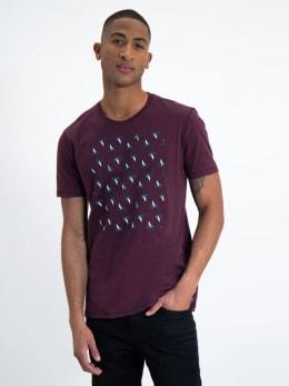 garcia t-shirt met opdruk l91003 rood