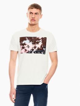 garcia t-shirt met opdruk wit q01002