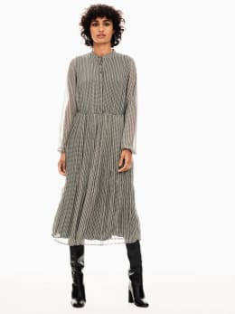 garcia jurk zwart wit t00283