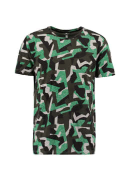 chief t-shirt met allover print groen
