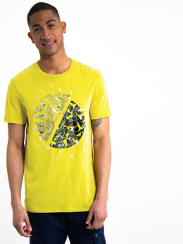 garcia t-shirt met opdruk h91203 geel