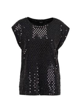 sisterspoint t-shirt met glitters zwart