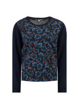 garcia trui met print j90247 blauw