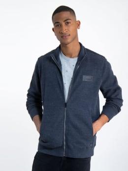 garcia vest met ritssluiting l91062 blauw