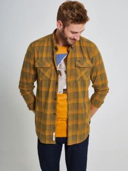 garcia geruit overhemd j91231 geel-groen