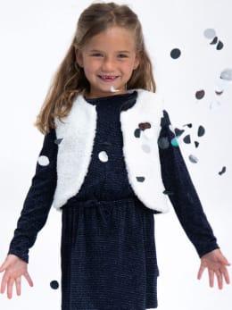 garcia faux fur gilet k94450 wit