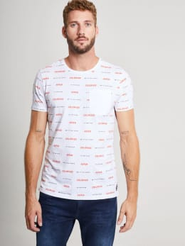 chief t-shirt met tekst pc910711 wit