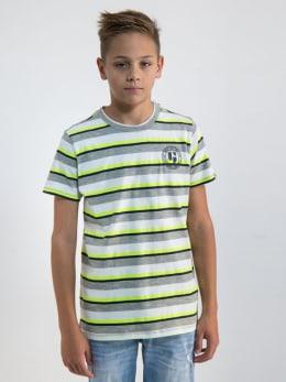 garcia t-shirt met strepen o03405 groen