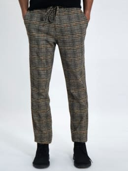 garcia pantalon geruit j91312 grijs