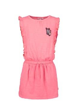 garcia jurk met ruffles o04662 roze
