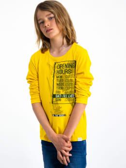 garcia long sleeve met opdruk i93400 geel