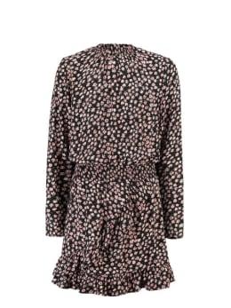 garcia jurk met bloemenprint h92682 zwart