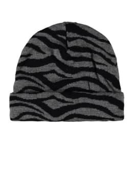 sarlini zebraprint muts grijs