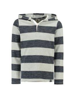garcia shirt met lange mouwen J93603 blauw-grijs