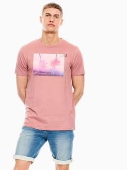 garcia t-shirt met opdruk oudroze q01003