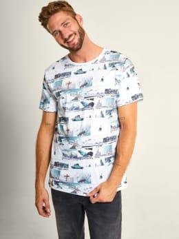 dedicated t-shirt met fotoprints blauw