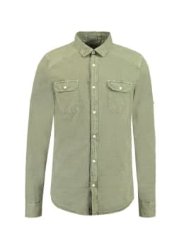 Garcia Overhemd Lange Mouwen D91230 Groen