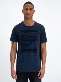 garcia t-shirt met korte mouwen l91004 blauw