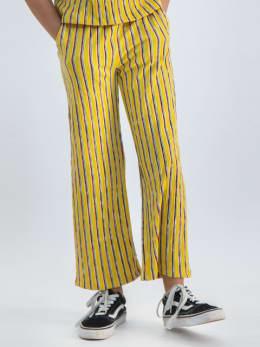 garcia wijde broek met strepen o02522 geel