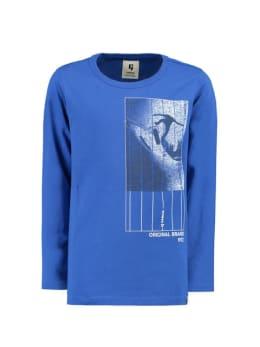 garcia long sleeve met opdruk g93404 blauw