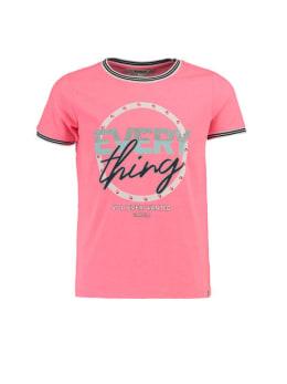 garcia t-shirt met kleurrijke opdruk ge920401 roze