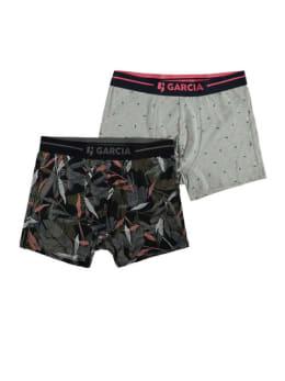 garcia 2 pack boxershorts met print pg010102 grijs