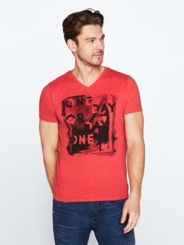 chief t-shirt met opdruk pc010302 rood