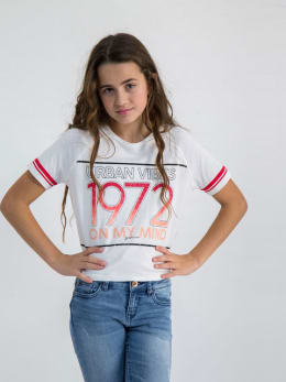 garcia t-shirt met tekstopdruk n02604 wit