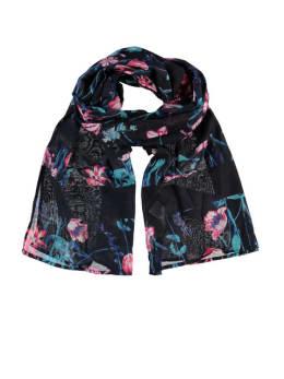 garcia sjaal met print s80130 blauw