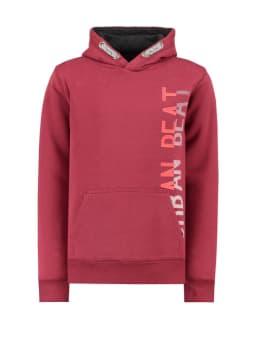 garcia hoodie met tekstprint i93460 rood
