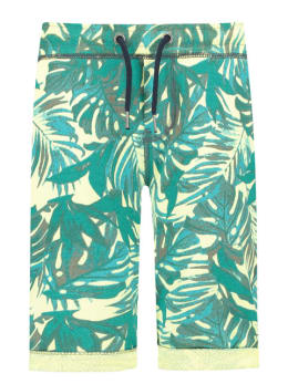 Garcia Jogshort Tropisch D93725 Limegroen